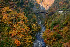 紅葉時期の蛇谷大橋